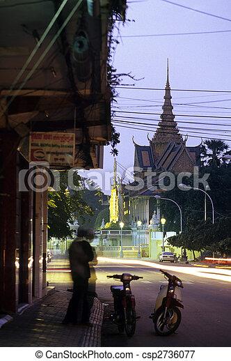Royal Palace- Phnom Penh, Cambodia - csp2736077