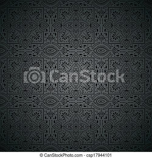 royal, papier peint, noir - csp17944101