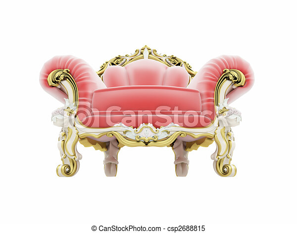 Royal Red Velvet Furniture   Csp2688815
