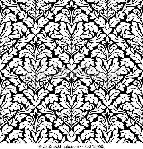 Royal seamless background - csp8758293