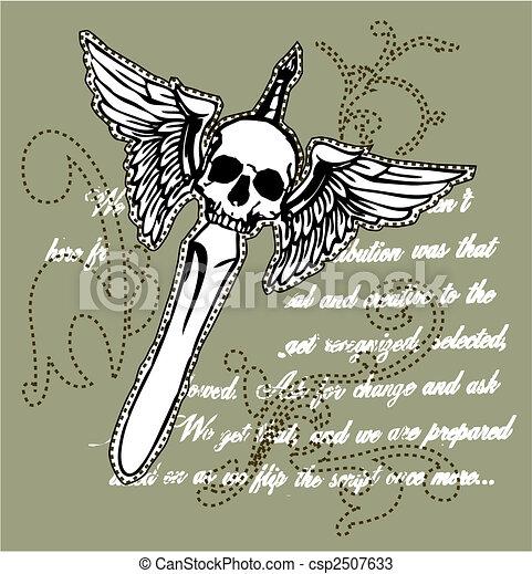 royal skull sword  - csp2507633