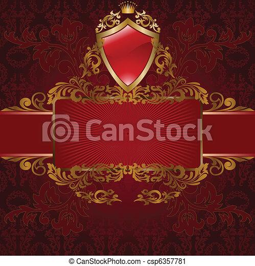 Royal Symbols On Red