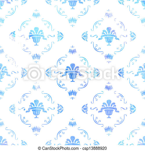 Royal Vintage Wallpaper Watercolor