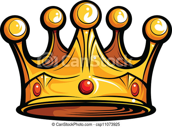 royalty or kings crown cartoon vector image golden crown vector rh canstockphoto com king crown clipart png king queen crown clipart