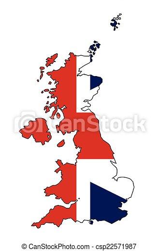 Carte Angleterre Irlande Ecosse.Royaume Carte Drapeau Uni Royaume Carte Uni Angleterre