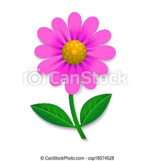 roze bloem - csp18574528