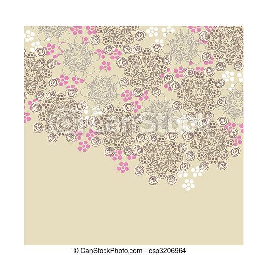 roze, bruine , ontwerp, floral - csp3206964