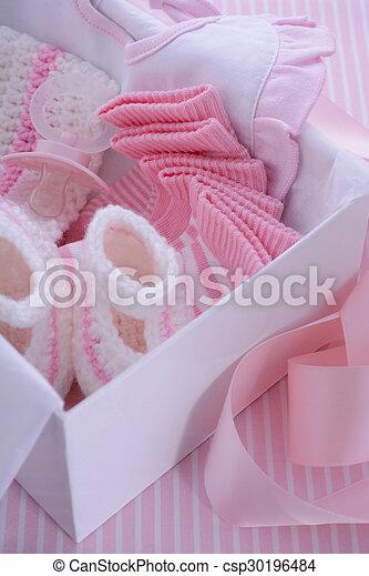 Roze G Douche Thema Baby Meisje Zijn