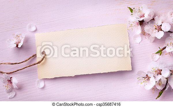roze, kunst, blossom , lente, achtergrond, floral - csp35687416