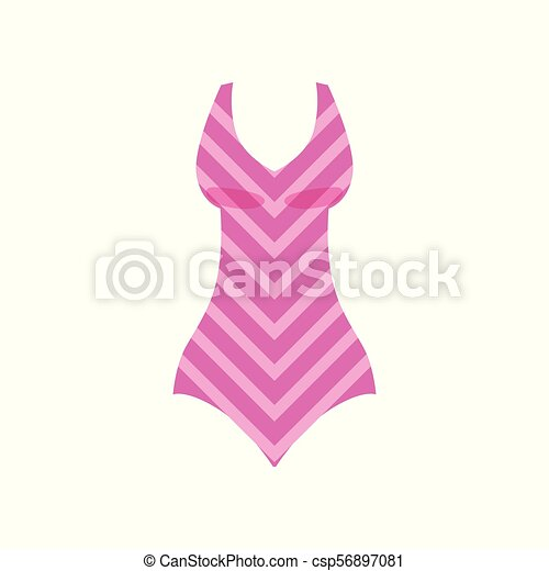 Badpak Mode.Roze Mode Beachwear Illustratie Badpak Vector Achtergrond