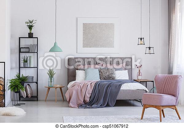 Roze Slaapkamer Stoel : Roze stoel schattige slaapkamer roze pastel kleur beddengoed