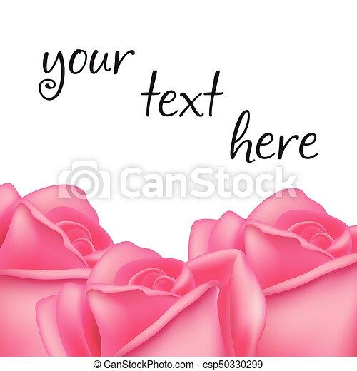 rozen, frame, vector, text., ruimte - csp50330299