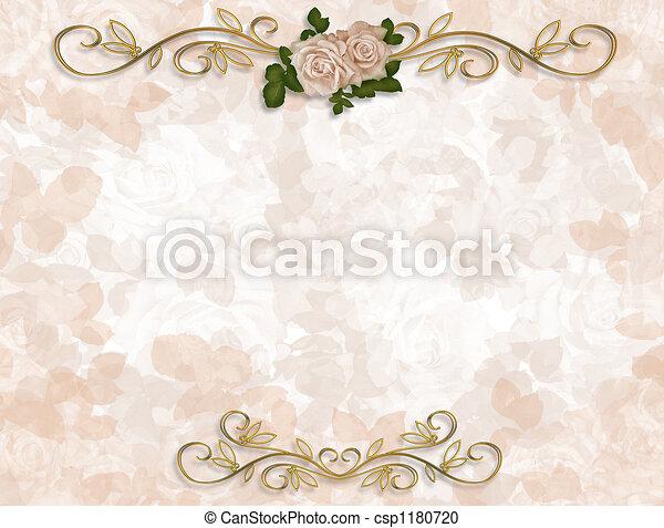 rozen, huwelijk uitnodiging - csp1180720