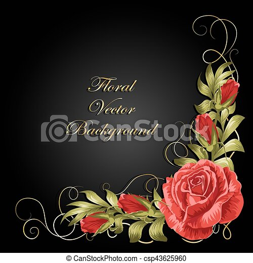 rozen, samenstelling, leaves., hoek - csp43625960