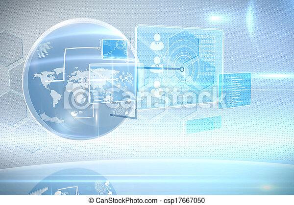 rozhraní, technika, futuristický - csp17667050