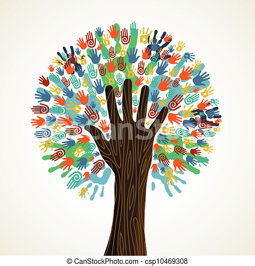 rozmaitość, drzewo, odizolowany, siła robocza - csp10469308
