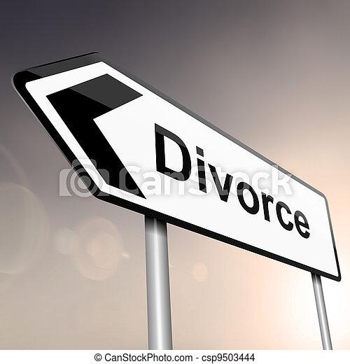 rozwód, concept. - csp9503444
