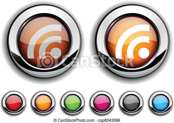 Rss button. - csp8043896