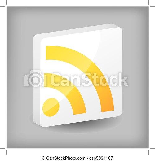 Rss button design - csp5834167