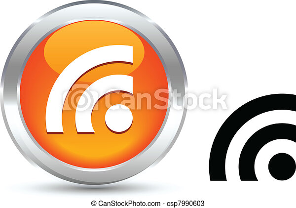 Rss button. - csp7990603