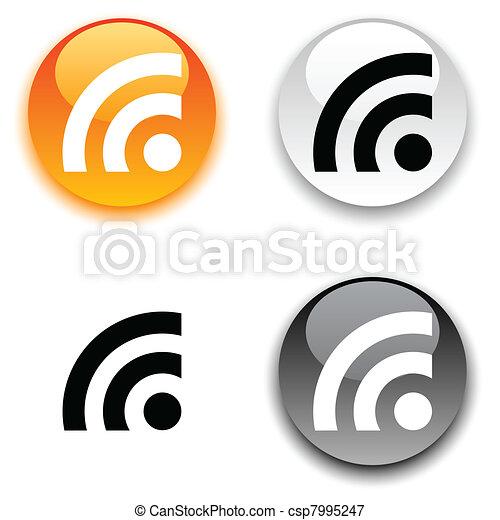 Rss button. - csp7995247