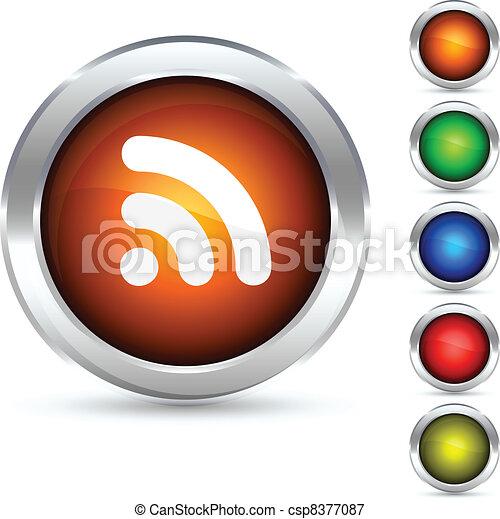 rss button. - csp8377087