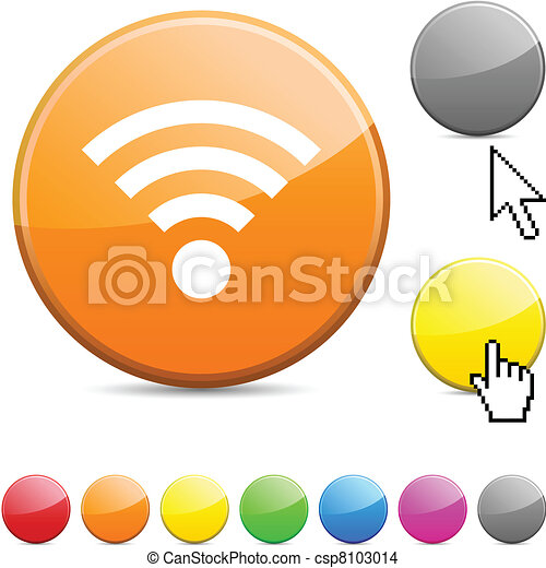 Rss glossy button. - csp8103014