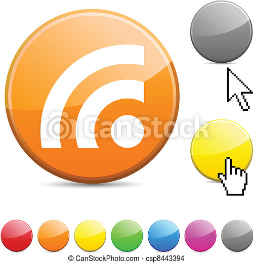 Rss glossy button. - csp8443394