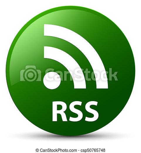 RSS green round button - csp50765748