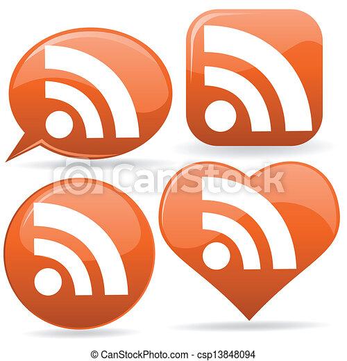 iconos RSS - csp13848094