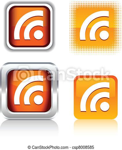 iconos Rs. - csp8008585