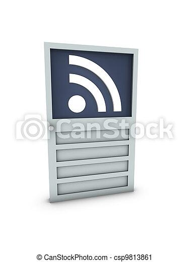 rss on door - csp9813861