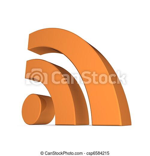 RSS Sign - Glossy Orange - csp6584215
