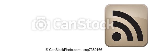 RSS Vector Button - csp7389166