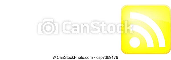 RSS Vector Button - csp7389176