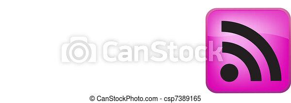 RSS Vector Button - csp7389165