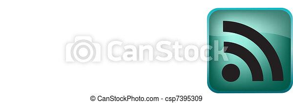RSS Vector Button - csp7395309