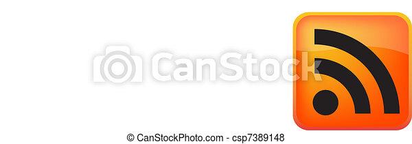 RSS Vector Button - csp7389148