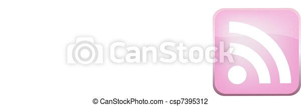 RSS Vector Button - csp7395312