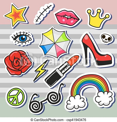 rtoon patch badges - csp41943476