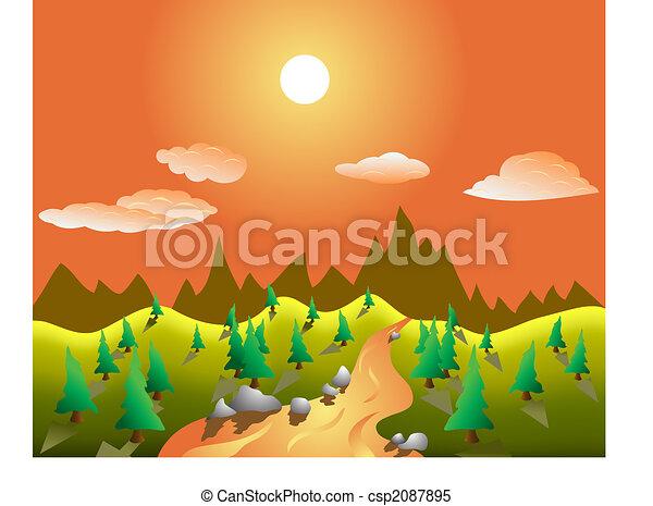 rual vector landscape - csp2087895