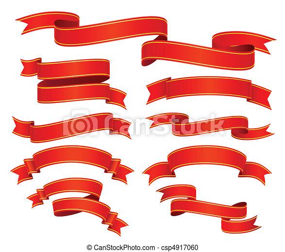 rubans, rouges - csp4917060