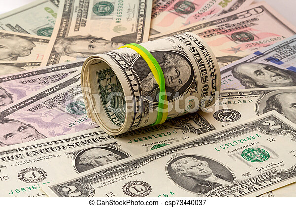 Rubber band for money in dollars - csp73440037
