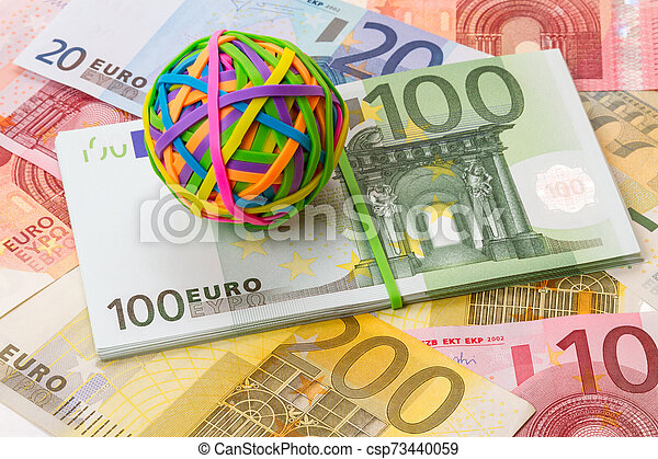 Rubber bands for money and euro - csp73440059