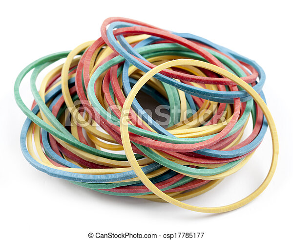 rubber bands for money - csp17785177