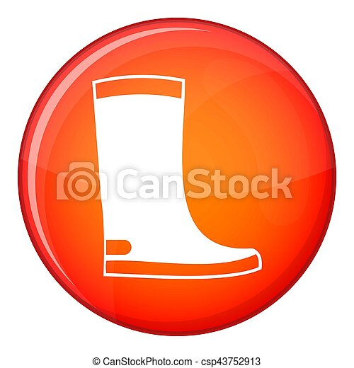 Rubber boots icon, flat style - csp43752913