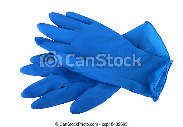 rubber gloves - csp18432693