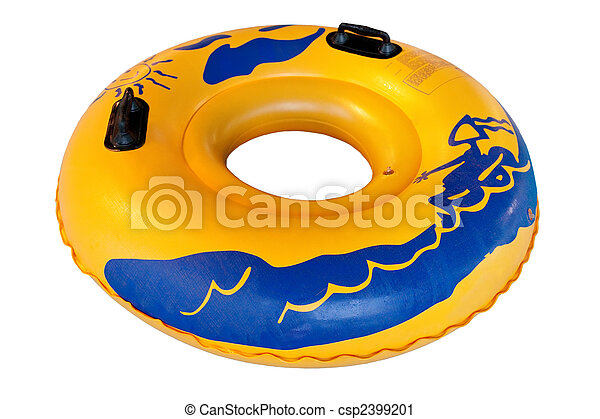 Waterpark rubber ring (waterpark equipment). isolated on... stock ...