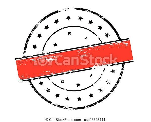 Rubber round stamp - csp28723444