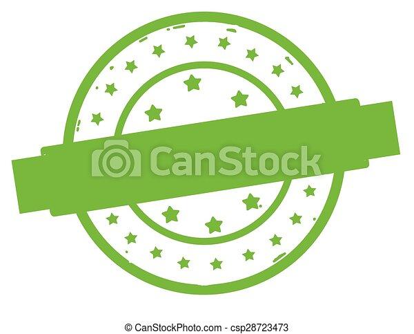 Rubber round stamp - csp28723473